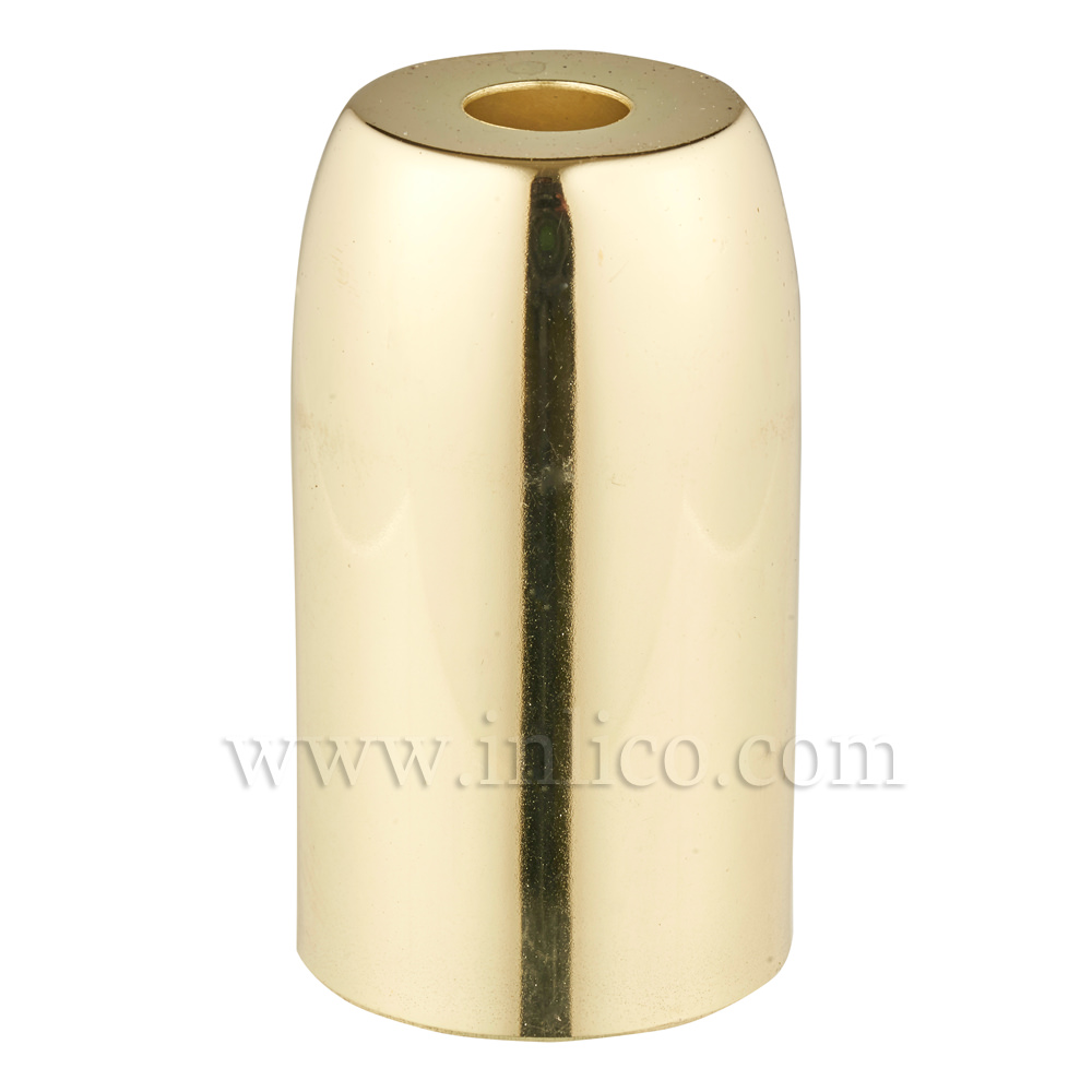 BRASS PLATED STEEL LH COVER D32XH54MM WITH 10.5 HOLE  LAMPHOLDER COVER FOR E14/SES LAMPHOLDERS