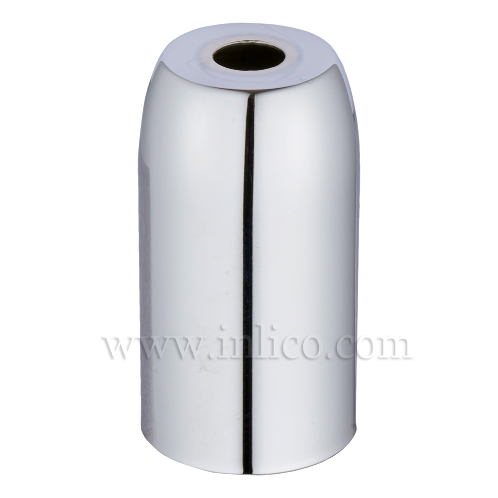 CHROME PLATED STEEL LH COVER D32XH54MM WITH 10.5 HOLE  LAMPHOLDER COVER FOR E14/SES LAMPHOLDERS