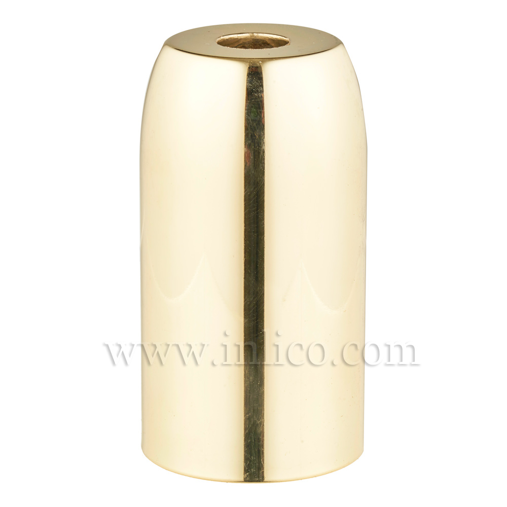 BRASS PLATED LAMPHOLDER COVER D32XH60MM WITH 10.5 HOLE  LONG LAMPHOLDER COVER FOR E14/SES LAMPHOLDERS