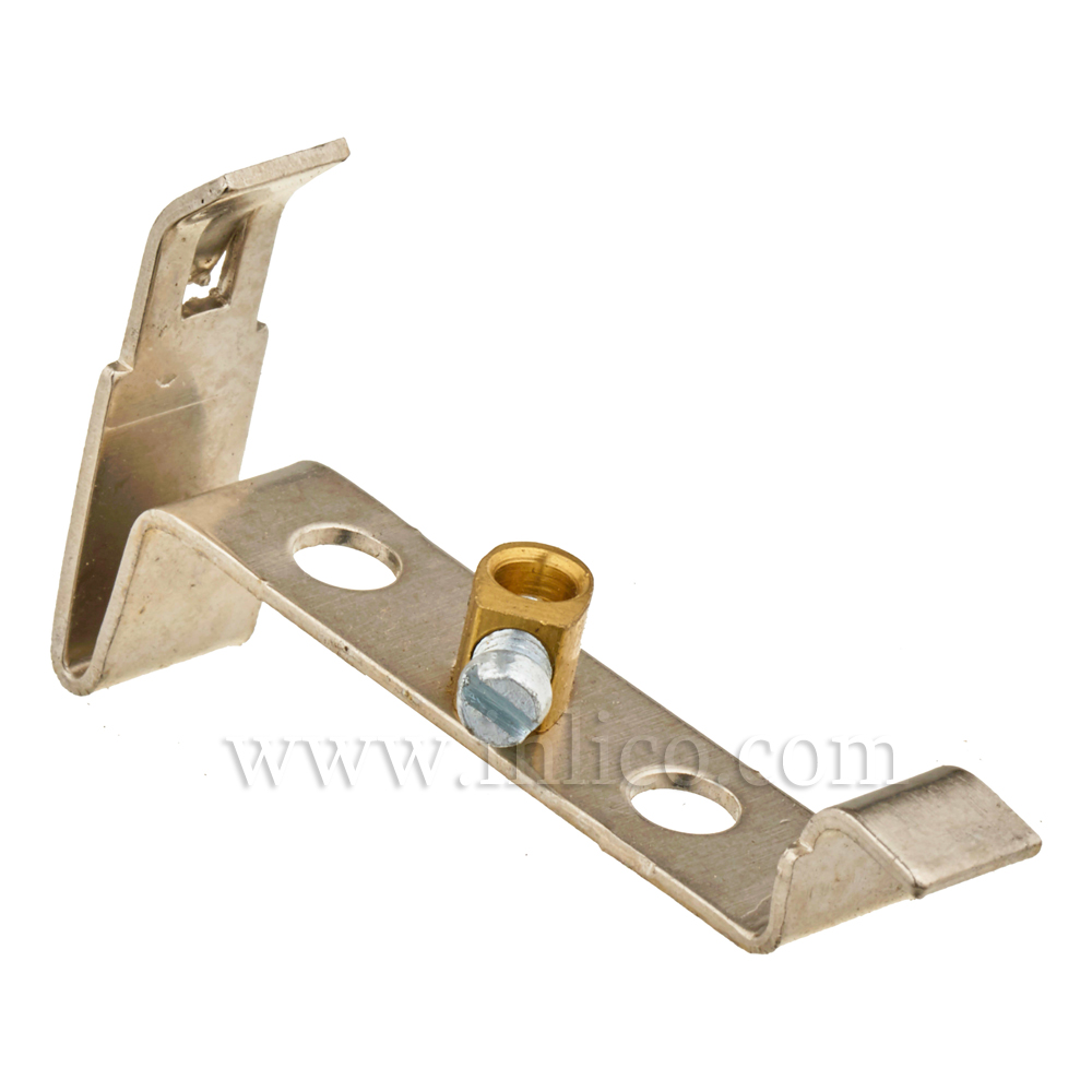 STEEL BRACKET WITH EARTH 32MM X 42MM