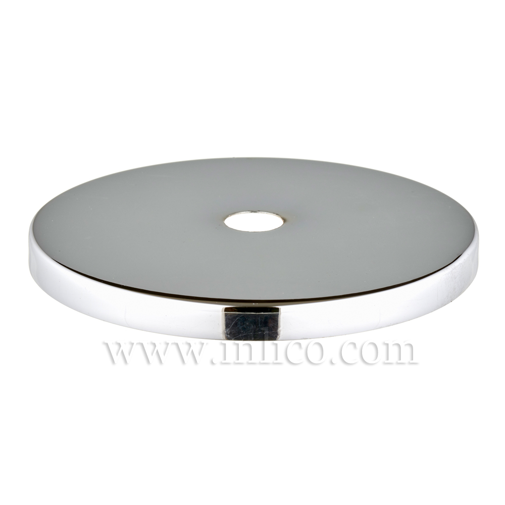 80MM CHROME PLATED FLAT STEEL CAP 10.5MM HOLE