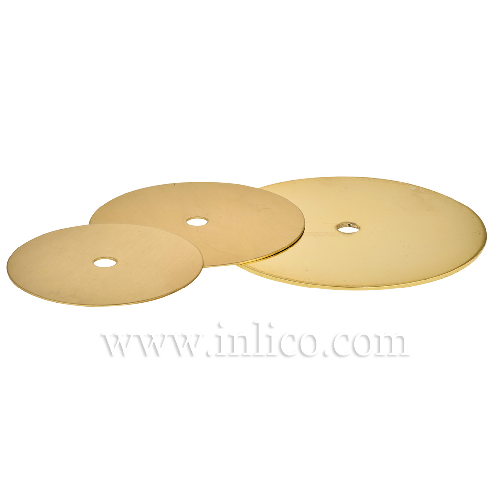 100MM x 0.9MM RAW BRASS DISC WITH 10.5MM CENTRE HOLE