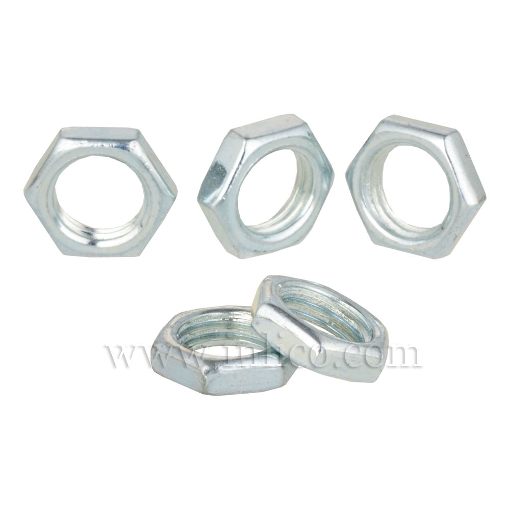 10MM Z/PLATED LOCK NUT 3MM THICK 14AF