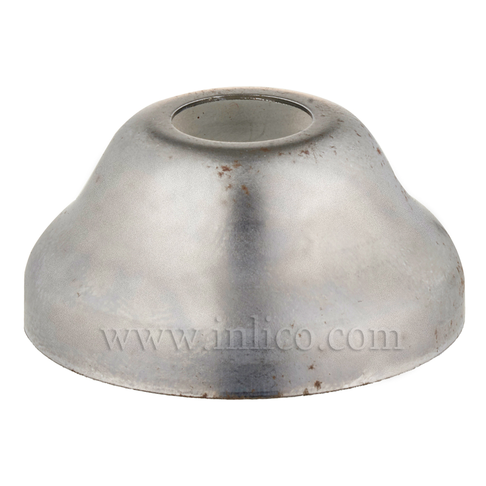 LAMPHOLDER CUP 16MM X 34MM 10MM CENTRE HOLE RAW STEEL