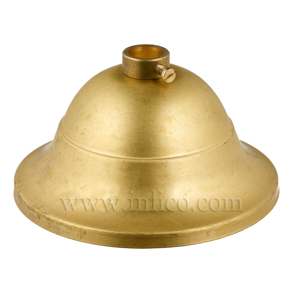 BRASS/NATURAL 40X80 CEILING CUP WITH LOCKING RING AND GRUB SCREW