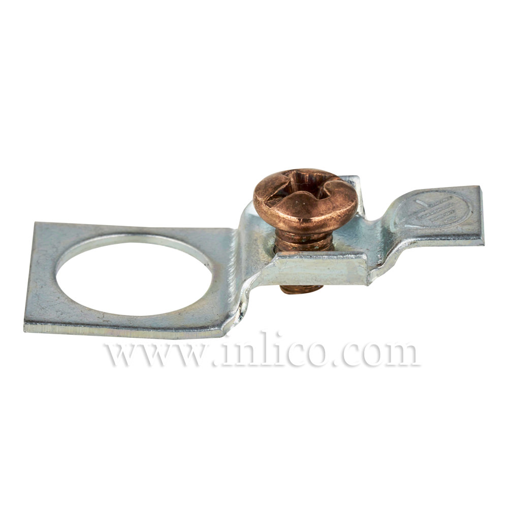 EARTH CONNECTOR- TERMINAL HOLE DIAMETER 10.5MM with COPPER SCREW