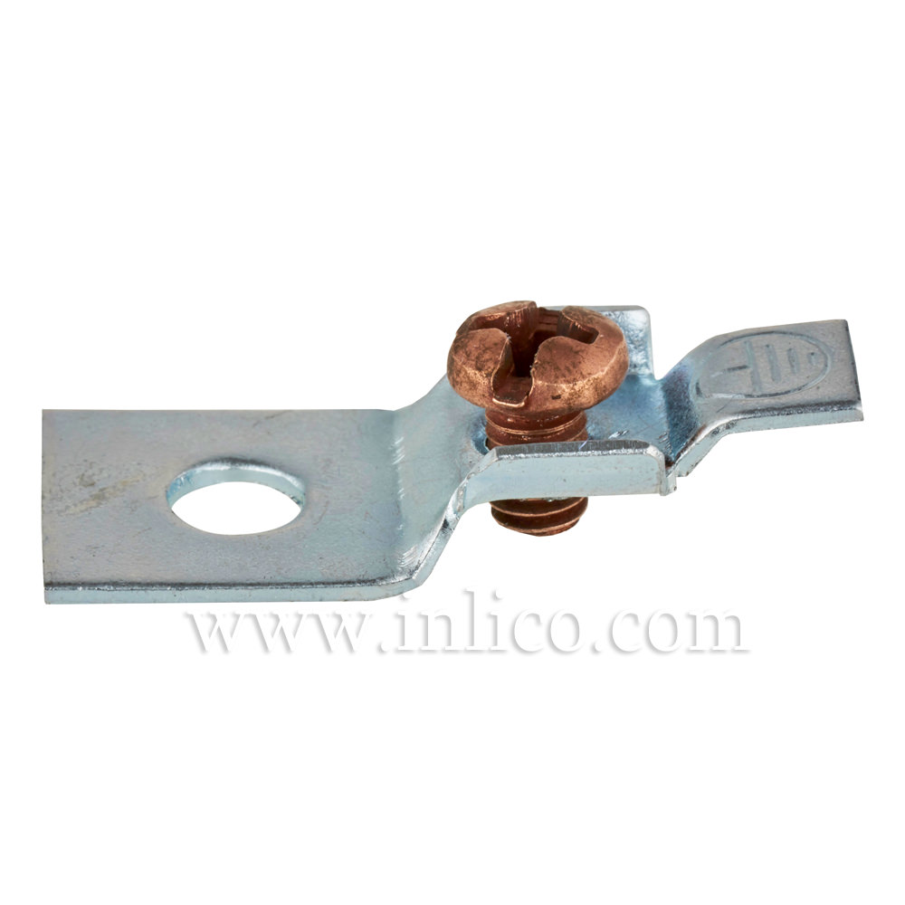 EARTH CONNECTOR- TERMINAL HOLE DIAMETER 4.2MM with COPPER SCREW