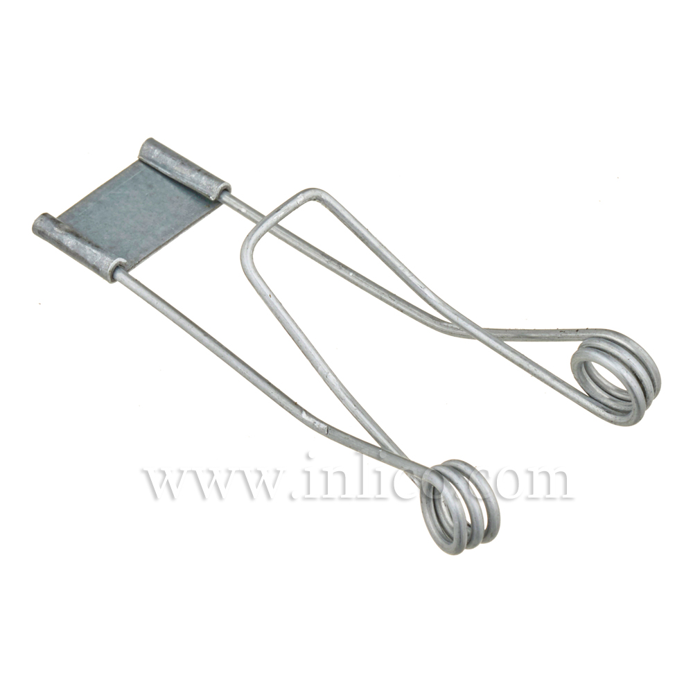 SPRING CLIP 38 X 60 X 5.5MM. HOLE 1.2MM. WIRE GALVANISED FINISH