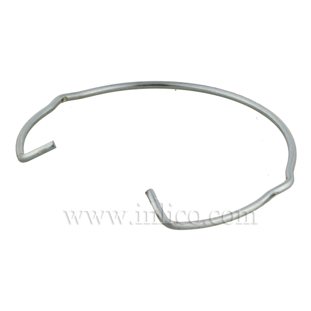 SPRING CLIP 50MM. OD 1.5MM WIRE GALV