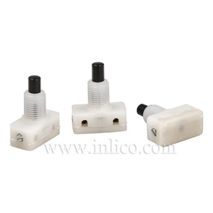 PRESS SWITCH WITH BLACK BUTTON 12MM THREAD LENGTH STANDARD EN61058