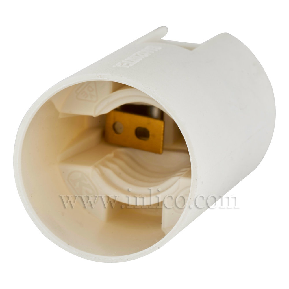E12 PLAIN SKT THERMOPLASTIC LAMPHOLDER PLAIN SKIRT T210 RATED UL LISTED FILE NUMBER E179377