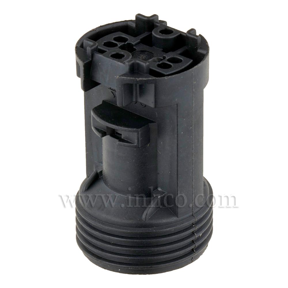 E14 KLIK SKELETON L/HLDER  T210 DEG BLACK