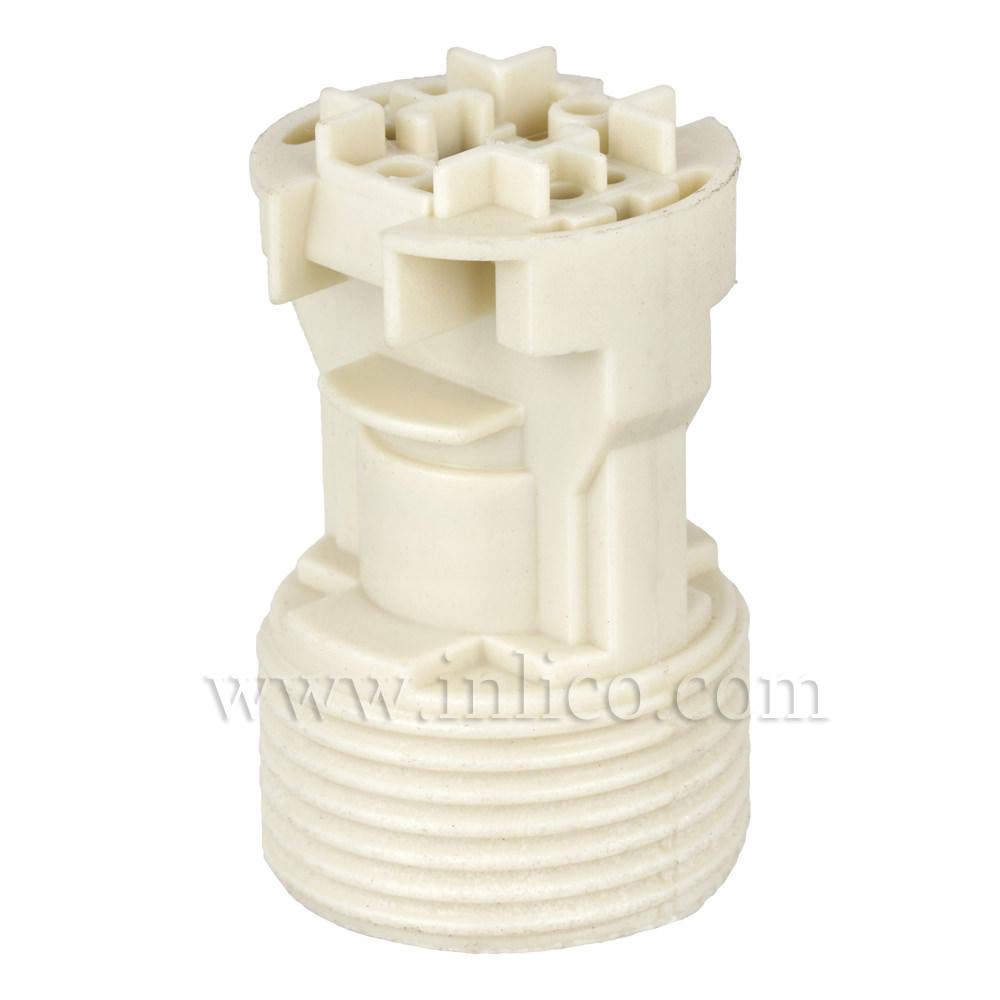 E14 KLIK SKELETON L/HLDER T210 DEG WHITE