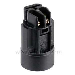 E14 CANDLE LAMPHOLDER BLACK 23MM DIA. X 41MM