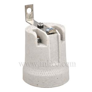 E27 PORCELAIN LAMPHOLDER-90 DEG. FIXING BKT (REVERSE)