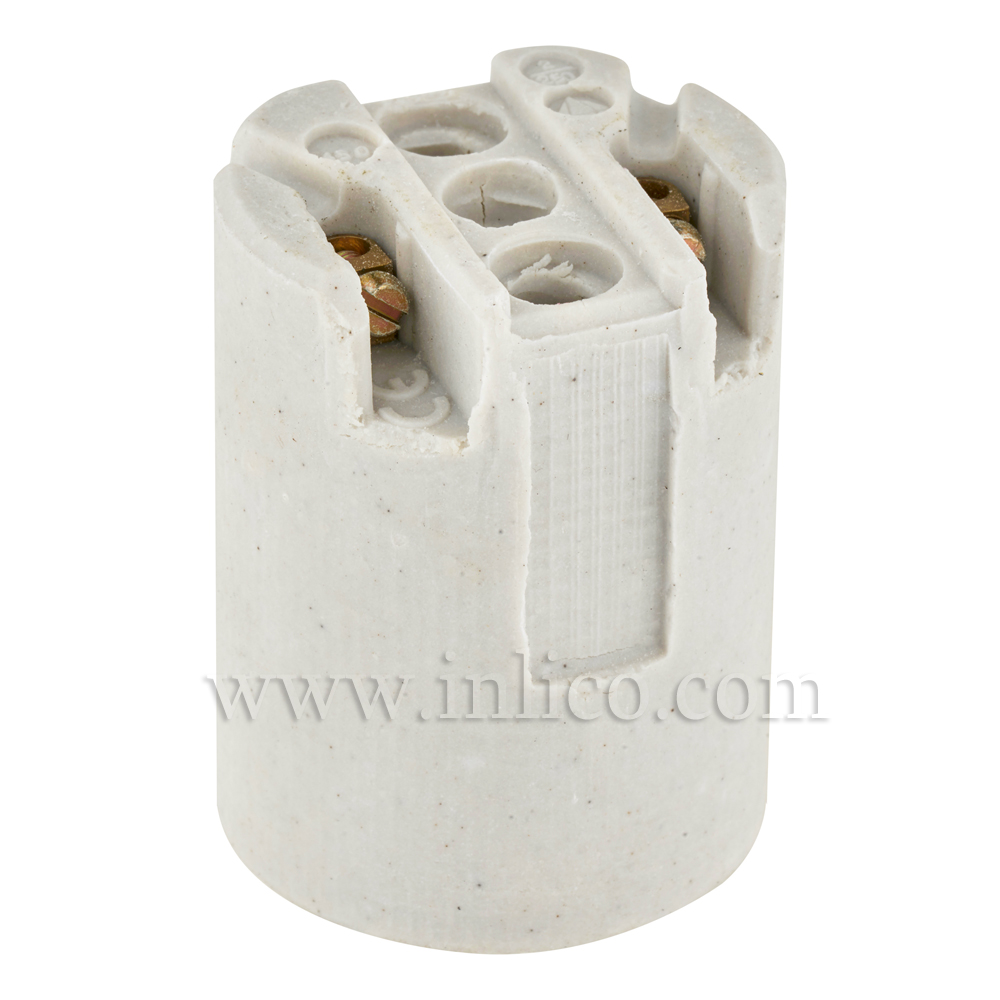 E14 PORCELAIN LAMPHOLDER WITH BASE FIXING