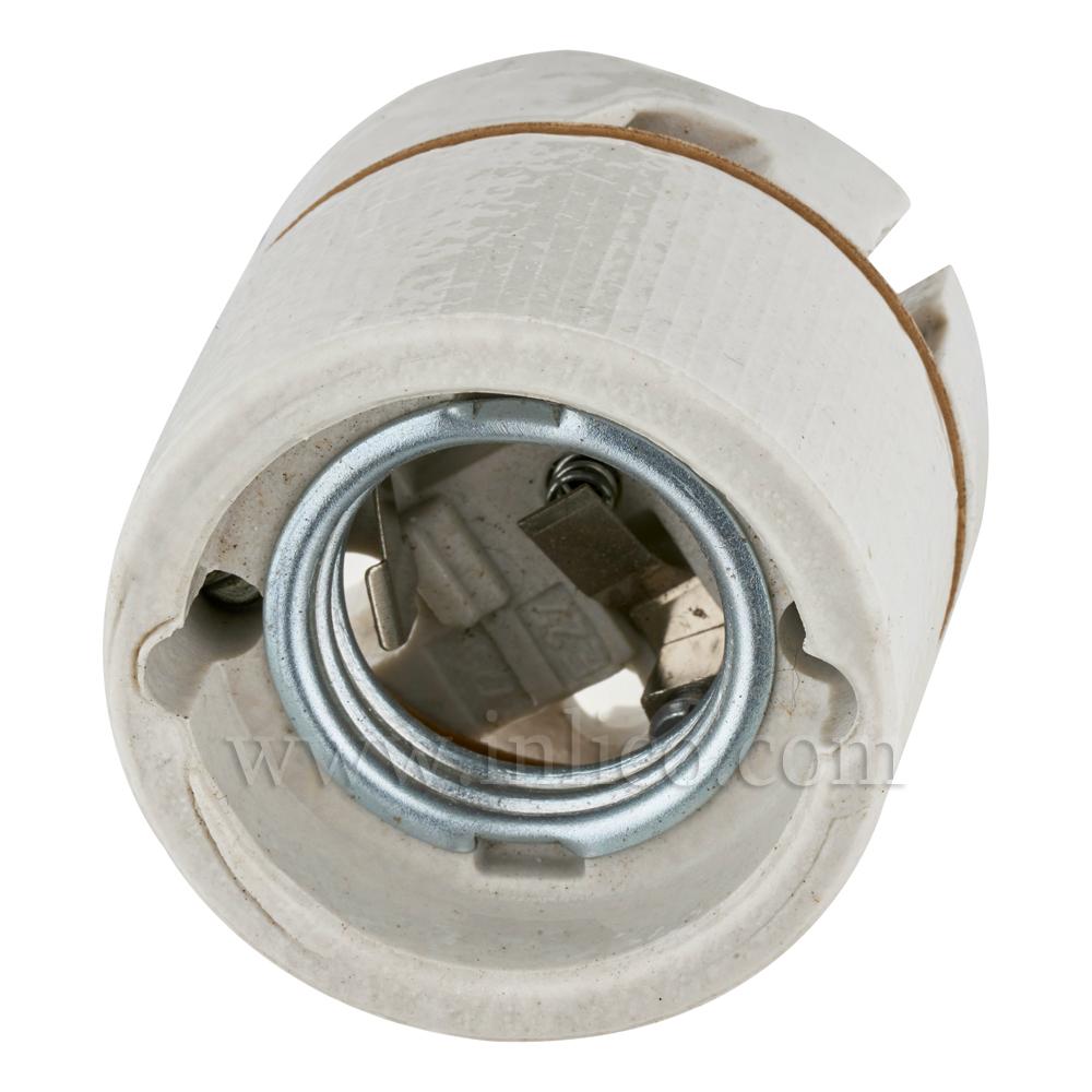 E27 PORCELAIN LAMPHOLDER BOTTOM FIXING