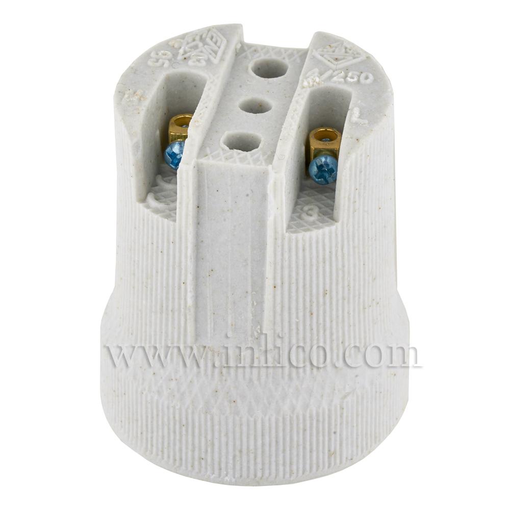 E27 PORCELAIN LAMPHOLDER BASE FIXING