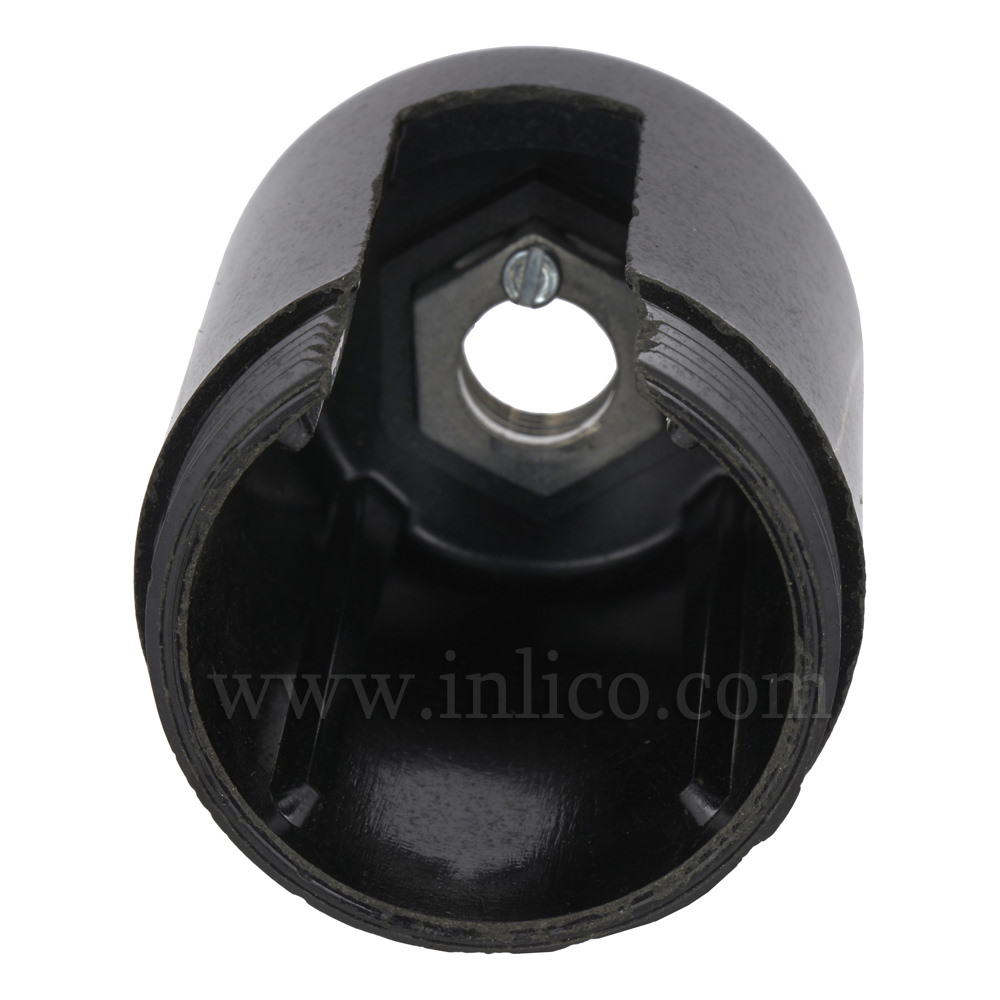 BLACK METAL ENTRY DOME E27 ROCKER SWITCH