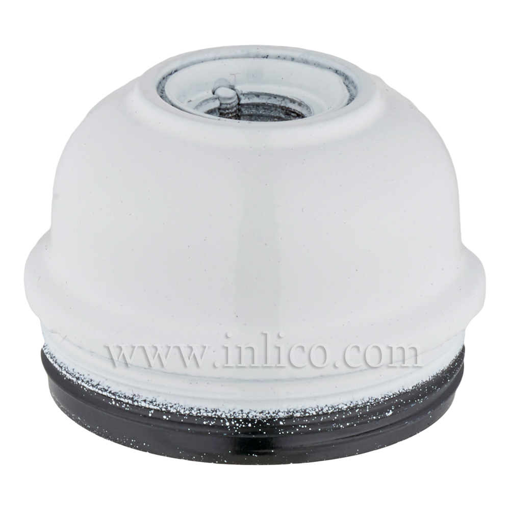 10MM METAL ENTRY DOME WHITE BAKELITE/THERMOSETTING PHENOLIC RESIN  APPROVAL ENEC05 TO BS EN 60238:2018:2004