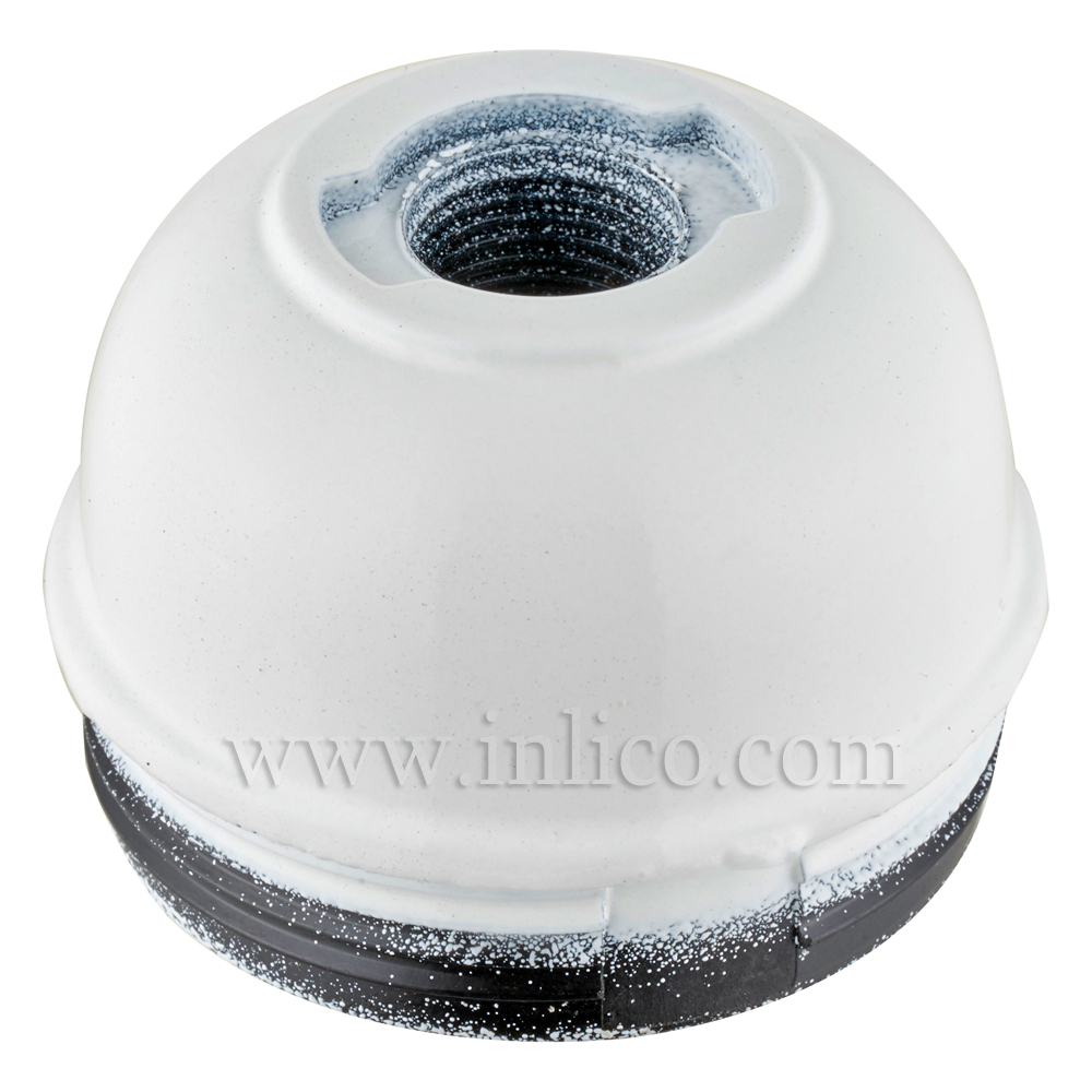 10MM PLASTIC ENTRY DOME WHITE BAKELITE/THERMOSETTING PHENOLIC RESIN  APPROVAL ENEC05 TO BS EN 60238:2018:2004