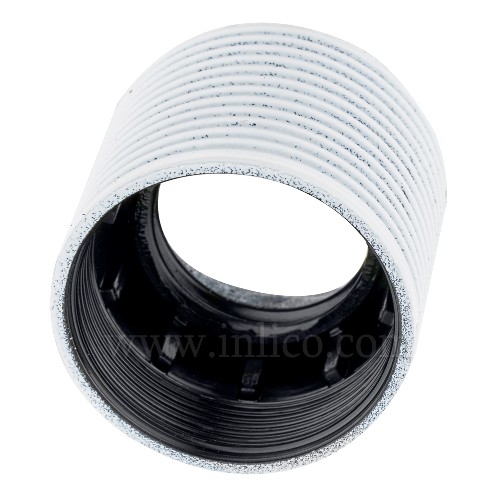 E27 FULLY THREADED SKIRT WHITE BAKELITE/THERMOSETTING PHENOLIC RESIN  APPROVAL ENEC05 TO EN60238:2004