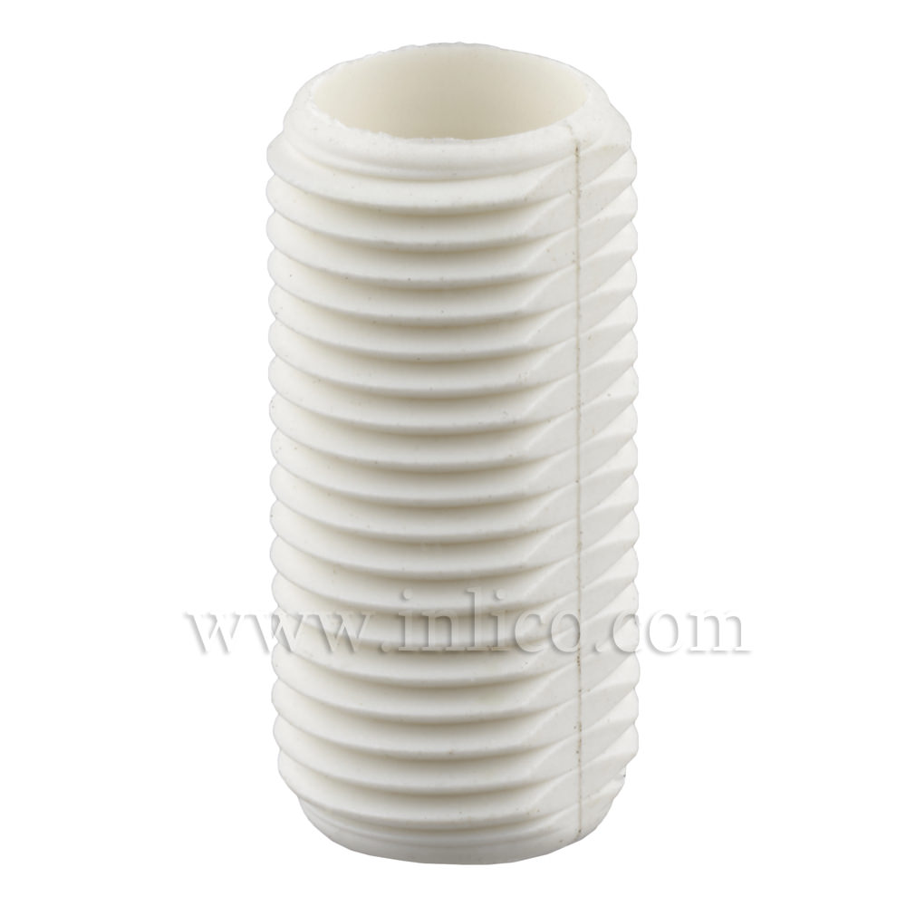 WHITE PLASTIC PROFILED ALLTHREAD M10 X 20MM