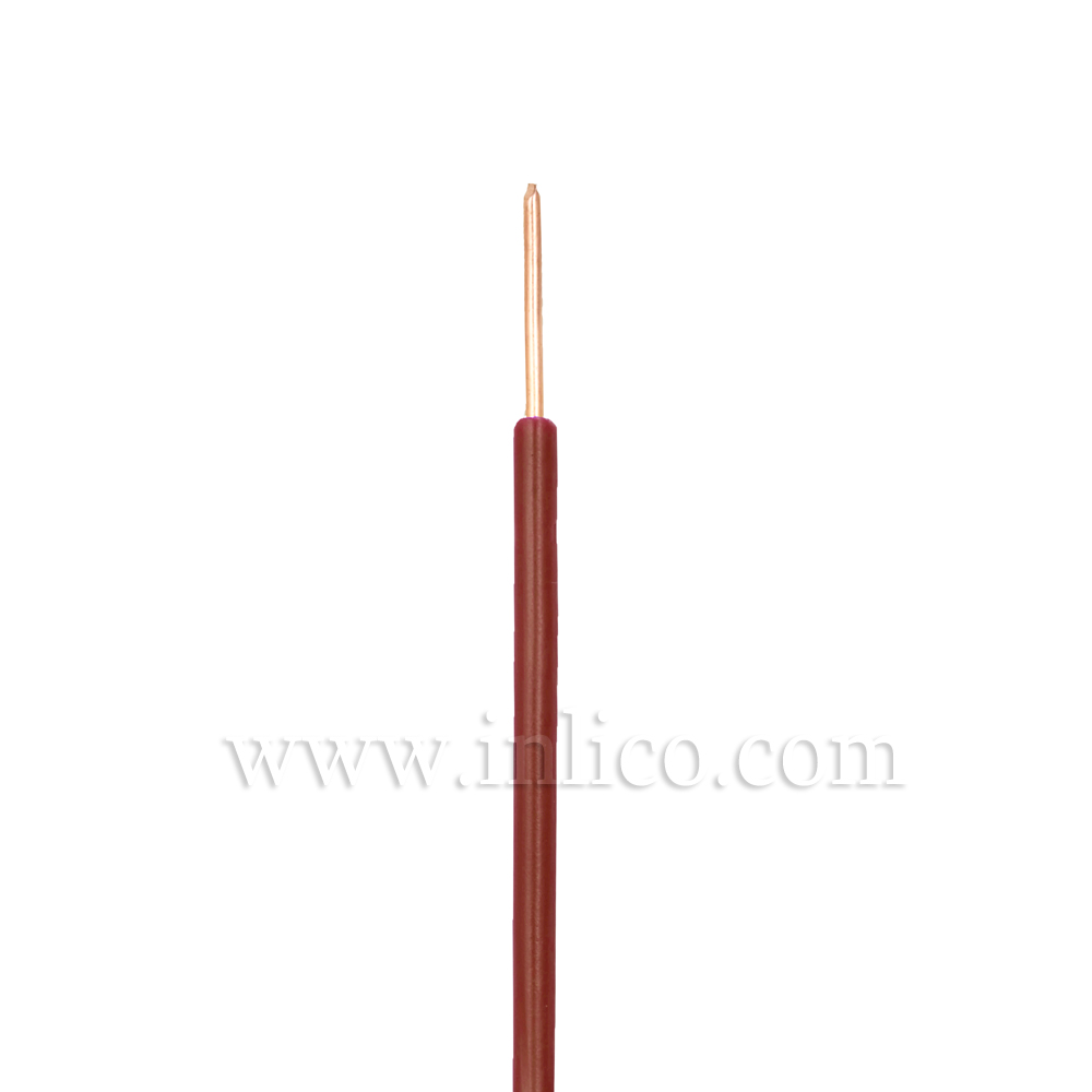 SINGLE CORE 0.75MM SILICON  SOLID BROWN -40 DEG TO 180 DEG C SILICON INSULATED  MANUFACTURED TO SIA STANDARD BS EN 60228:2005