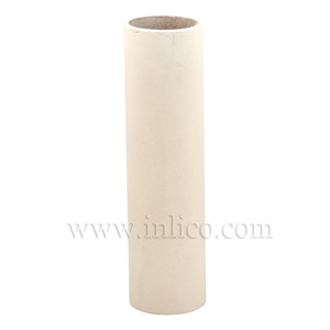 CANDLE TUBE 24ID X 120MM IVORY CARD PLAIN CANDLE TUBE