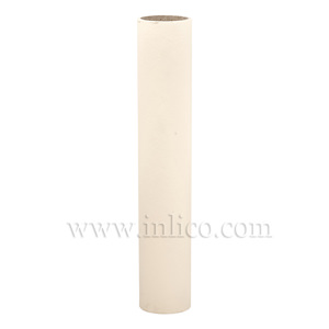 CANDLE TUBE 24ID X 150MM IVORY CARD PLAIN CANDLE TUBE