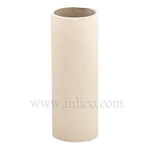 CANDLE TUBE 24ID X 85MM IVORY CARD PLAIN CANDLE TUBE
