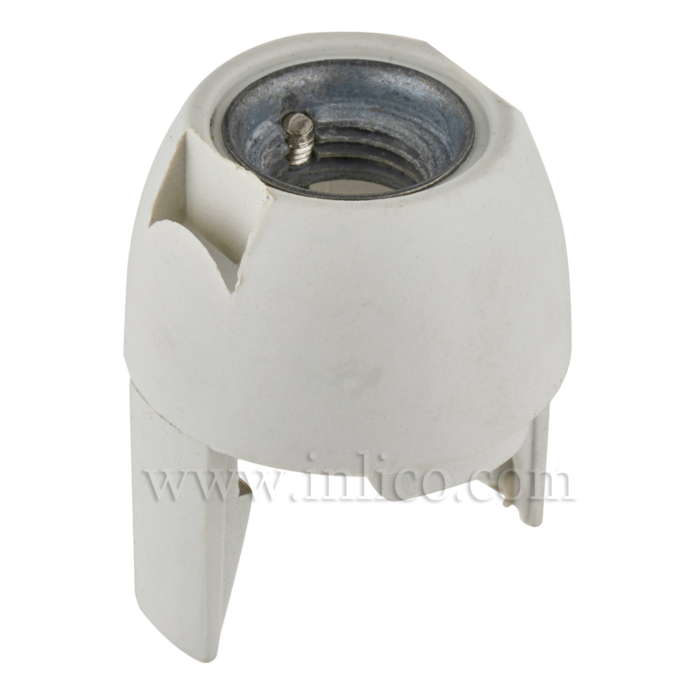10MM METAL ENTRY SNAP FIT DOME WHITE FOR E14 THERMOPLASTIC LAMPHOLDER