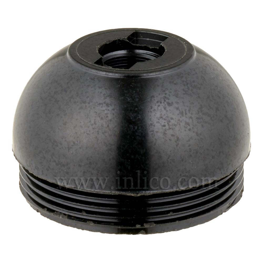 E26 10MM PLASTIC ENTRY DOME BLACK