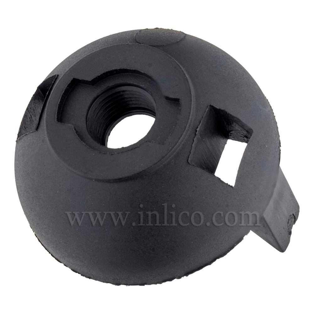 M10 PLASTIC ENTRY SNAP FIT E27 DOME BLACK