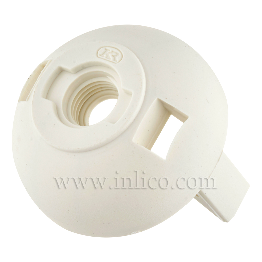 M10 PLASTIC ENTRY SNAP FIT E27 DOME WHITE