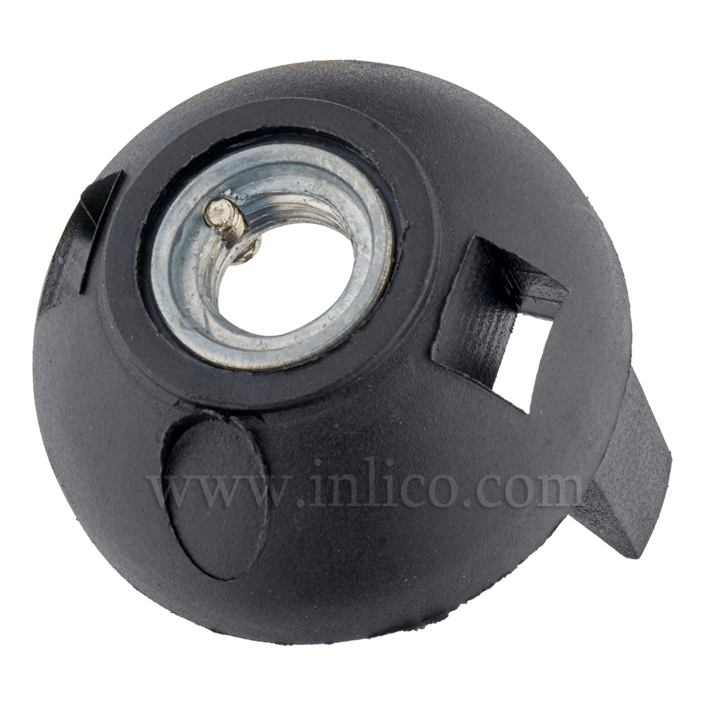 M10 METAL ENTRY SNAP FIT E27 DOME BLACK WITH EARTH