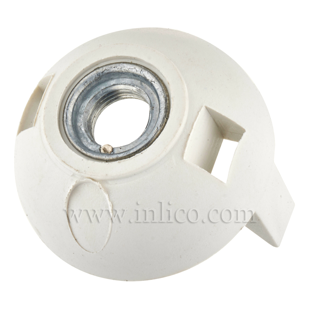 M10 METAL ENTRY SNAP FIT E27 DOME WHITE WITH EARTH
