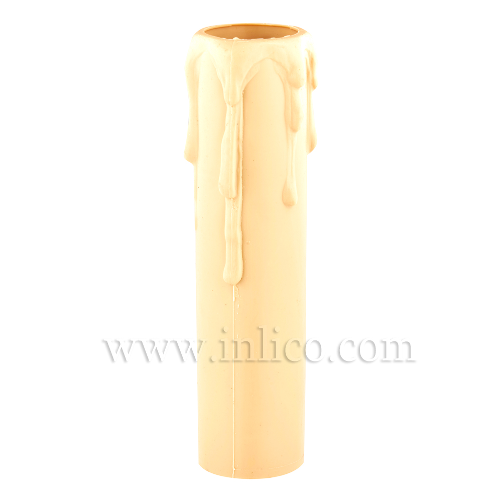 CANDLE DRIP 23ID X 100MM IVORY PLASTIC
