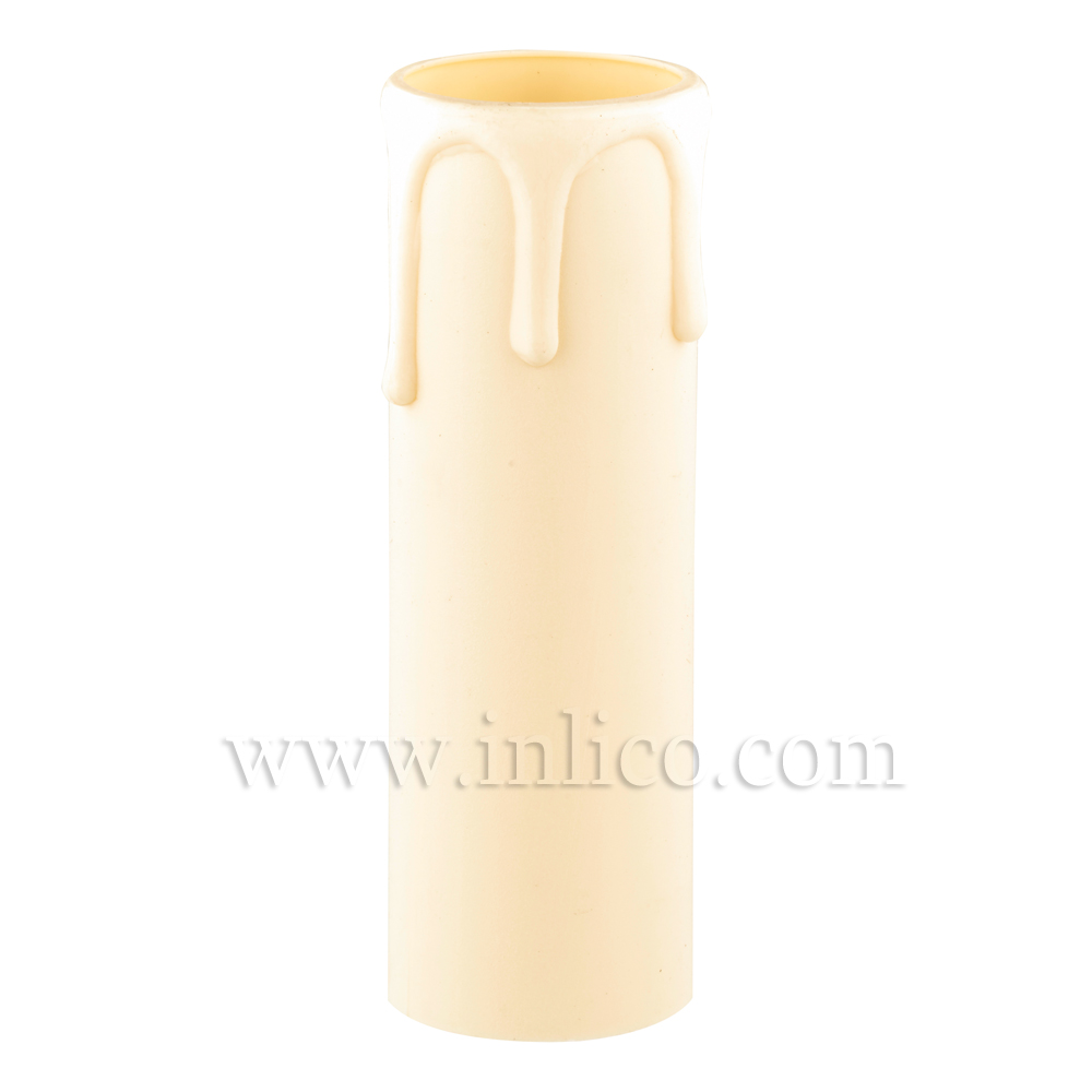 CANDLE DRIP 27ID X 55MM IVORY PLASTIC