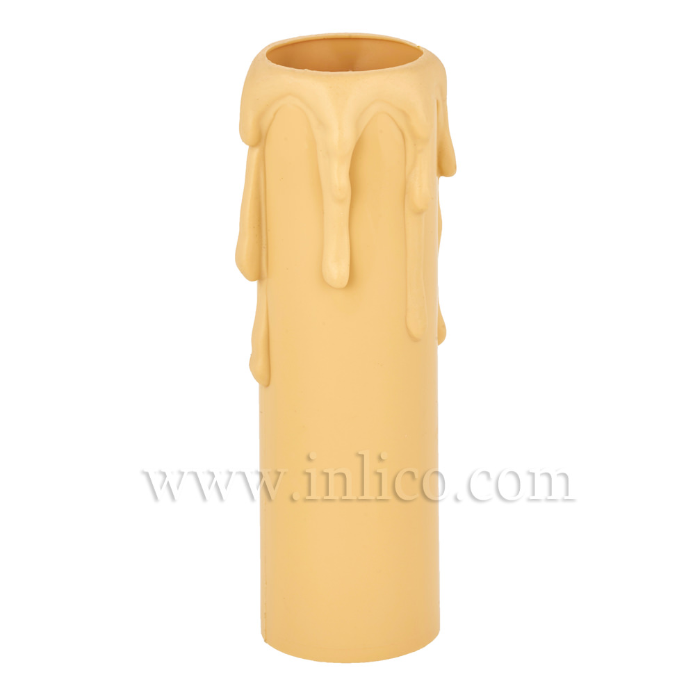 CANDLE DRIP 27ID X 90MM IVORY PLASTIC