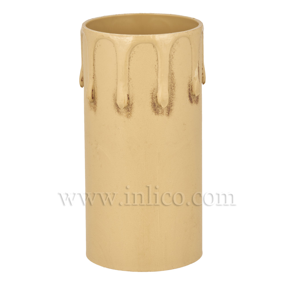 CANDLE DRIP 41ID X 85MM ANTIQUE PLASTIC