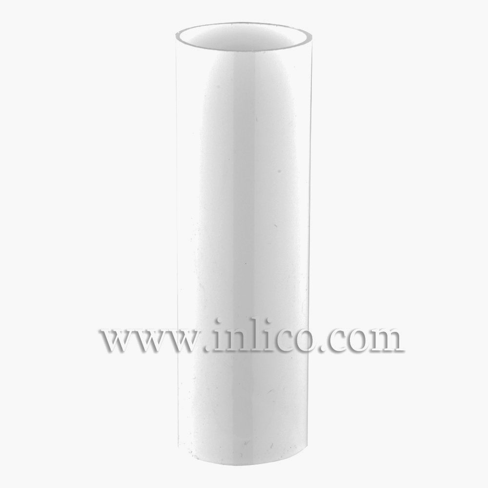 CANDLE TUBE 23ID X 100MM WHITE PLASTIC