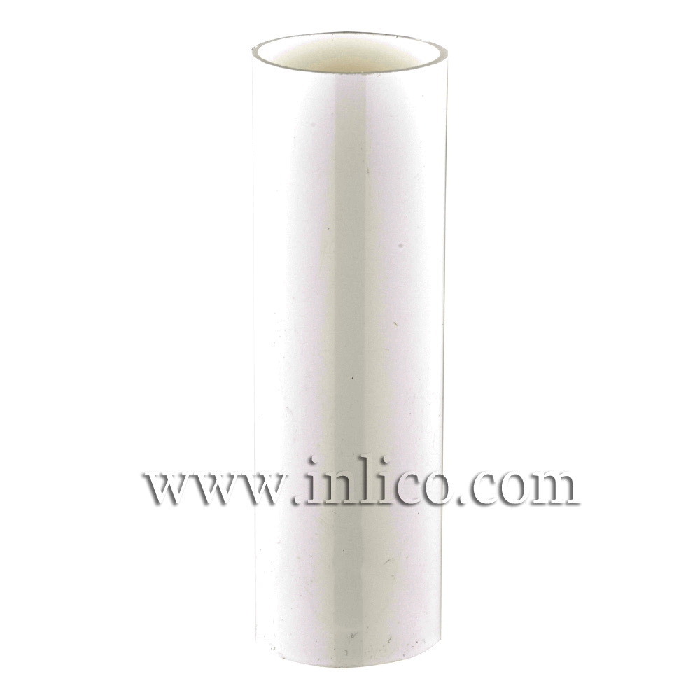 CANDLE TUBE 24MM ID X 25.5MM OD X 65.5MM WHITE PLASTIC