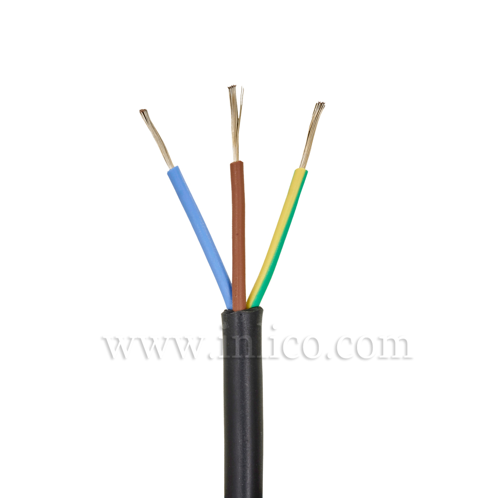 3X.75MM SILICONE HR FLX BLACK  -40 DEG TO 180 DEG C SILICON INSULATED  MANUFACTURED TO SIAF STANDARD BS EN 60228:2005