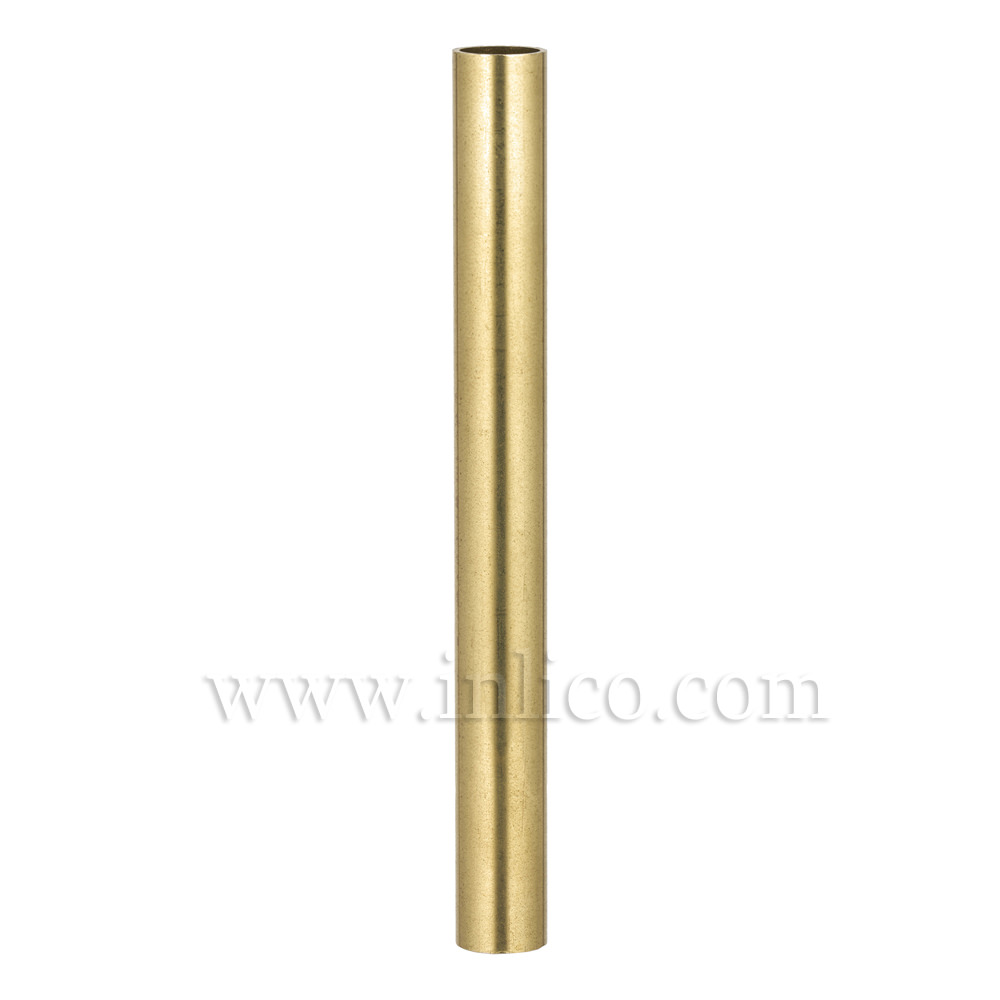 RAW BRASS SPACER 125MM LONG 10mm CLEAR BORE TO FIT OVER M10x1 ALLTHREAD