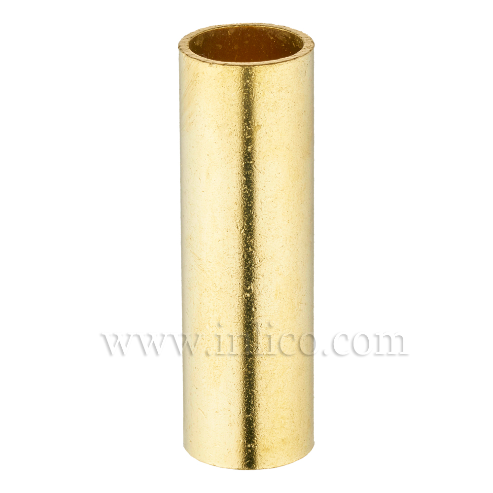 RAW BRASS SPACER 50MM LONG 10mm CLEAR BORE TO FIT OVER M10x1 ALLTHREAD