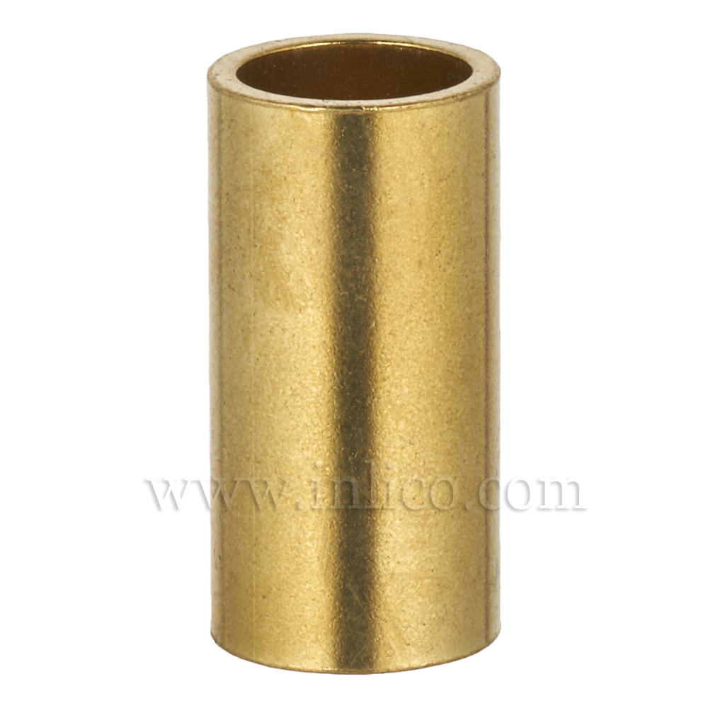 RAW BRASS SPACER 25MM LONG 10mm CLEAR BORE TO FIT OVER M10x1 ALLTHREAD