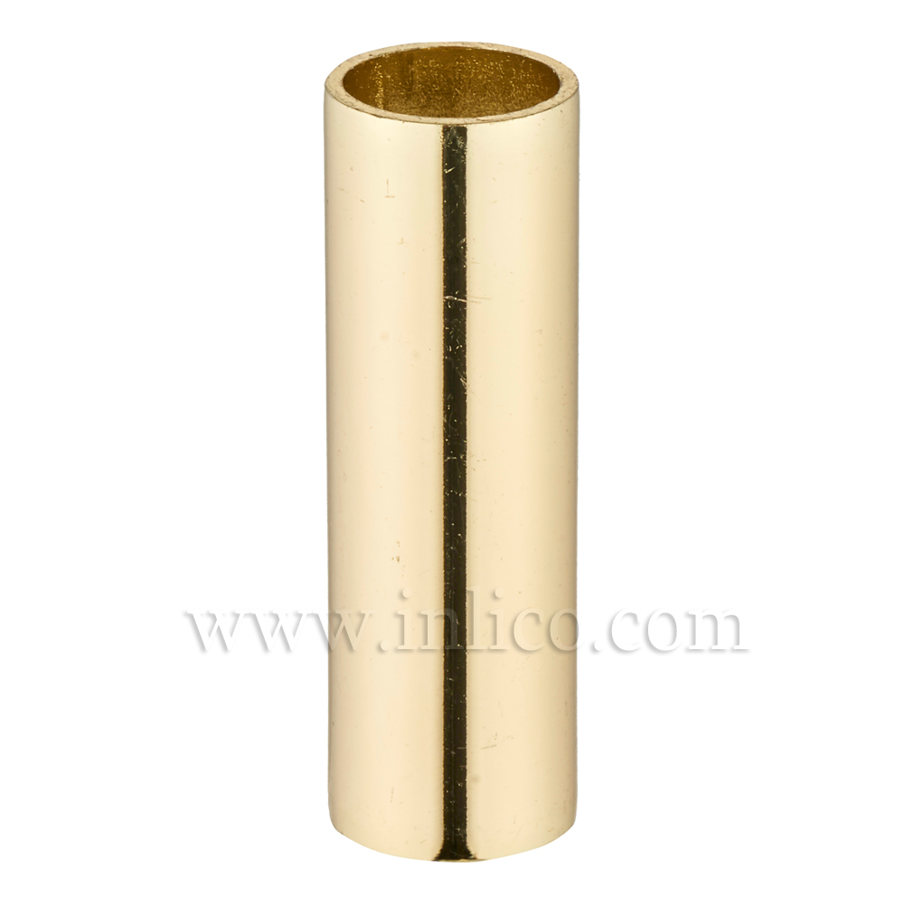 RAW BRASS SPACER 30MM LONG 10mm CLEAR BORE TO FIT OVER M10x1 ALLTHREAD