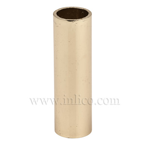 BRASS PLATED SPACER 43.5MM LONG 10mm CLEAR BORE TO FIT OVER M10x1 ALLTHREAD