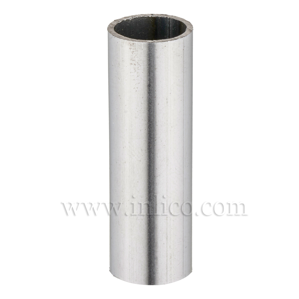 RAW STEEL SPACER 43.5MM LONG 10mm CLEAR BORE TO FIT OVER M10x1 ALLTHREAD